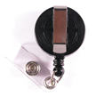 Economy Badge Reel, Clip-On - Black