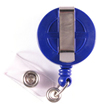 Economy Badge Reel, Clip-On - Blue