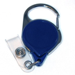 Badge Reel - No-Twist Carabiner - Blue