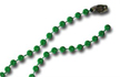 Bead Chain - 4mm Beads - Green