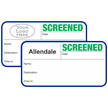 Custom Screened Non-Expiring Visitor Badges with Duplicates
