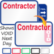 Tab-Expiring Contractor Labels Book