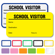 School Visitor Labels Book