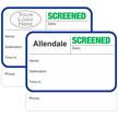 Custom Screened Expiring Visitor Badges with Duplicates