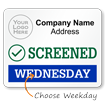 Custom Screened Visitor Label