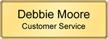 Customizable Executive Name Badge with Gold Frame