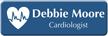 Customizable Cardiologist LaserLogo Badge with Heart ECG Symbol