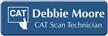 Customizable CAT Scan Technician LaserLogo Badge with Symbol
