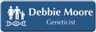 Customizable Geneticist LaserLogo Name Badge with Genetics Symbol