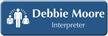 Customizable Interpreter LaserLogo Badge with Medical Linguist Symbol