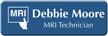 Custom MRI Technician LaserLogo Name Badge with Symbol