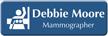 Customizable Mammographer LaserLogo Badge with Breast Imaging Symbol