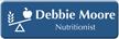 Customizable Nutritionist LaserLogo Badge with Nutrition Balance Symbol