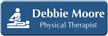 Customizable Physical Therapist LaserLogo Name Badge with Symbol