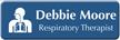 Customizable Respiratory Therapist LaserLogo Name Badge with Symbol