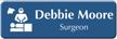 Customizable Surgeon LaserLogo Badge with Operation Theatre Symbol