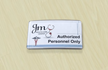 Name Badge Contemporary Sign Kit For Workplace