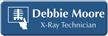 Customizable Xray Technician LaserLogo Badge with Imaging Symbol