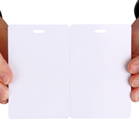 Blank Fold-Over ID Cards Printable Stationery