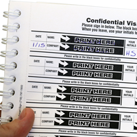 Two-part Visitor Sign-In and Sign-Out Book